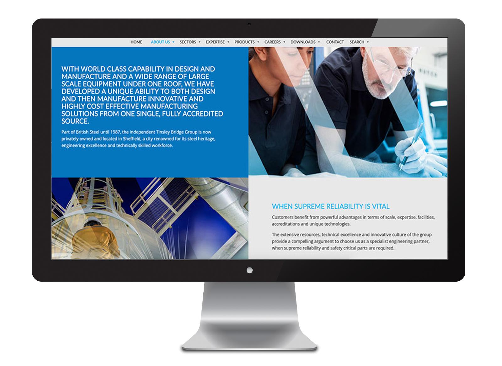 Tinsley Bridge website design