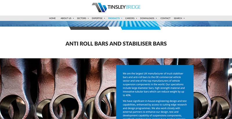 Tinsley Bridge Web Design