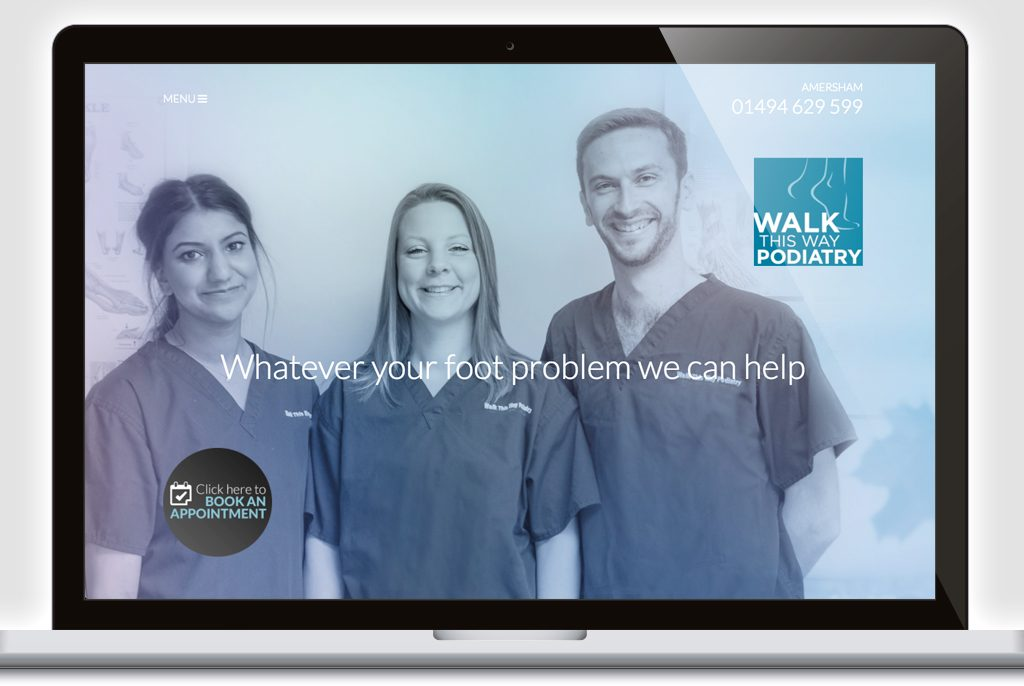 Walk This Way Podiatry Website Home Page