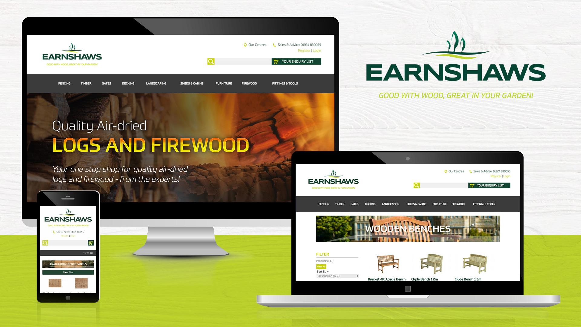 Blacksmith Marketing - Website developing for Earnshaws Fencing Centres