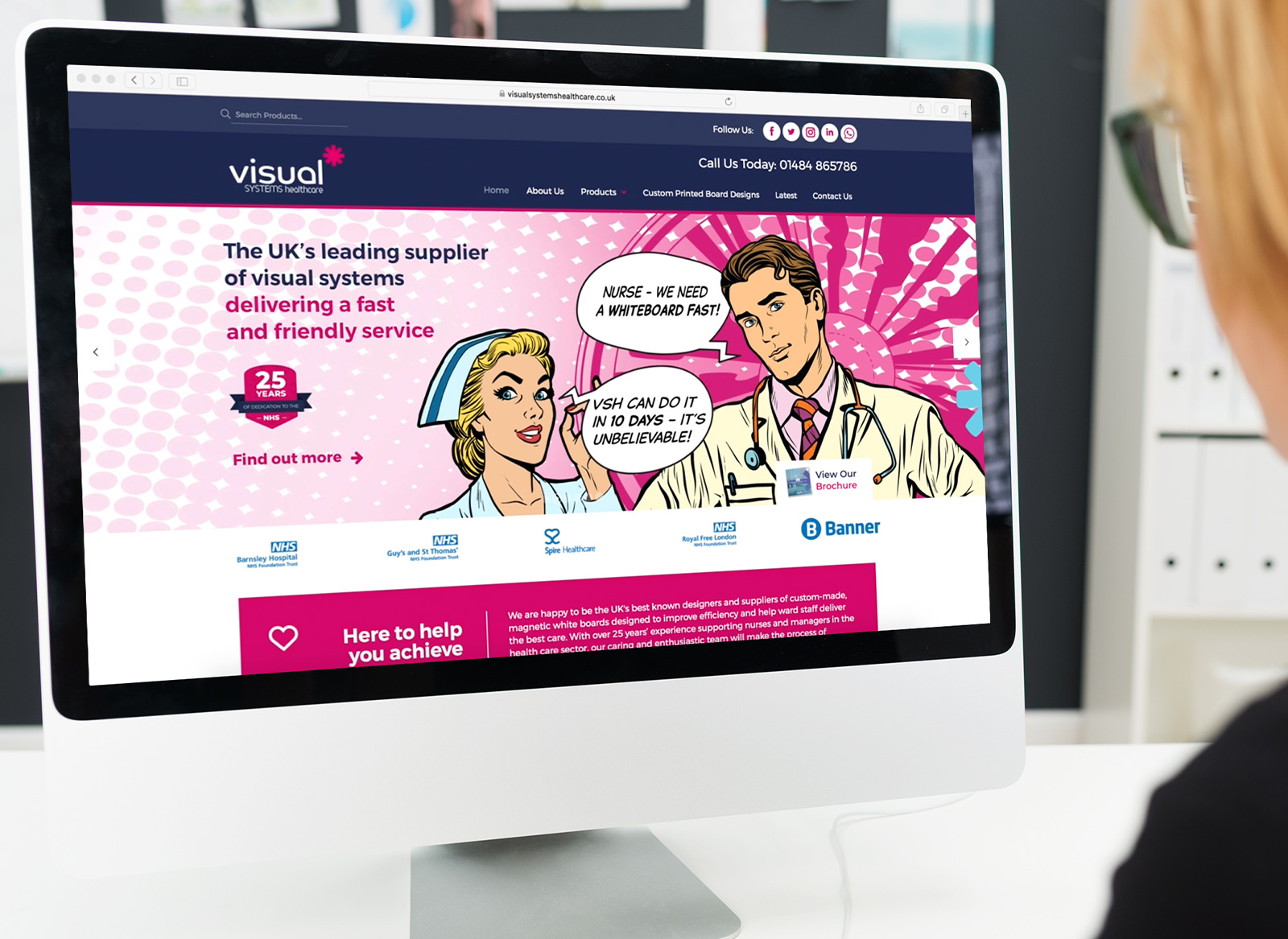 Visual Sysetms Healthcare Website