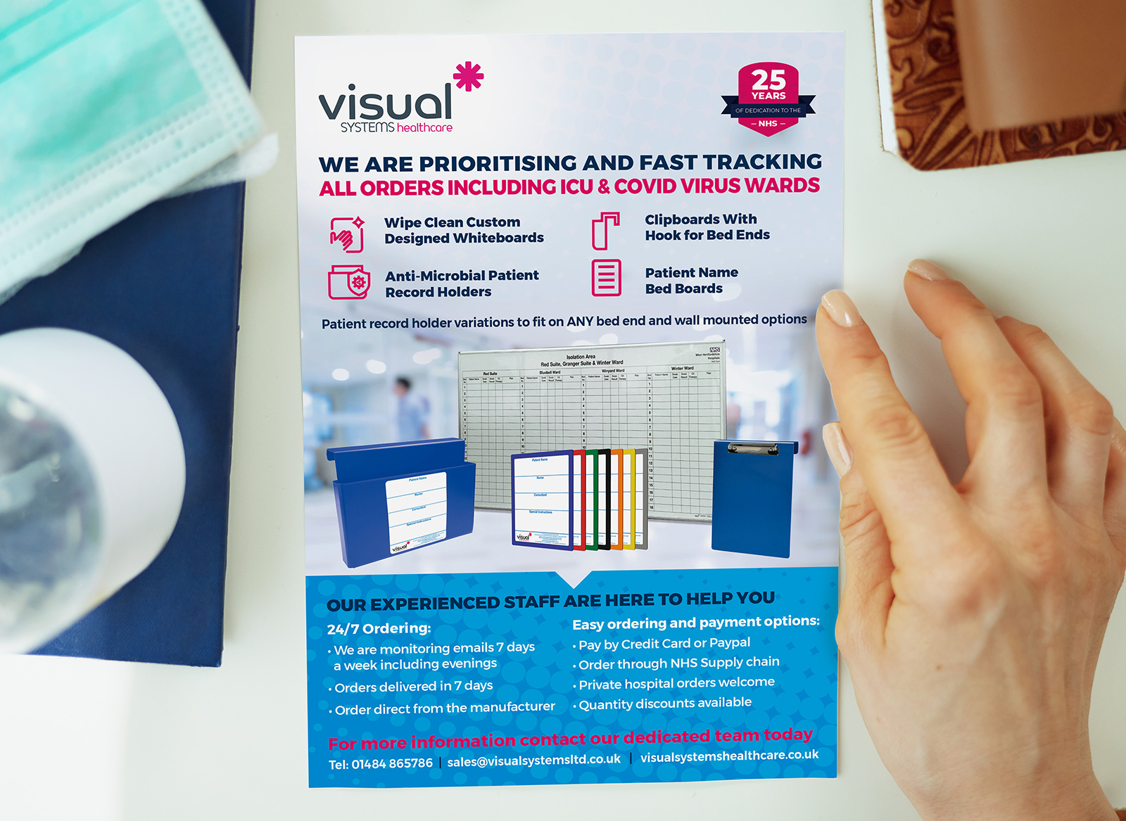 Visual Sysetms Healthcare A5 Leaflet
