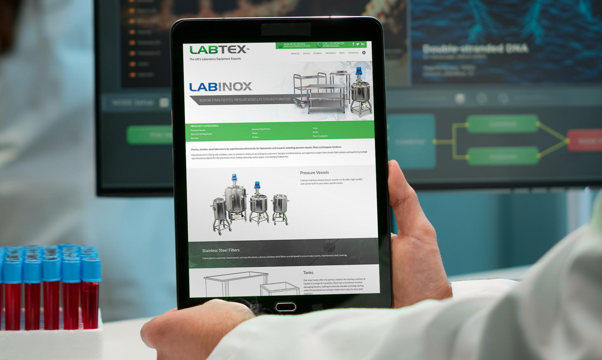 Webpage design labinox